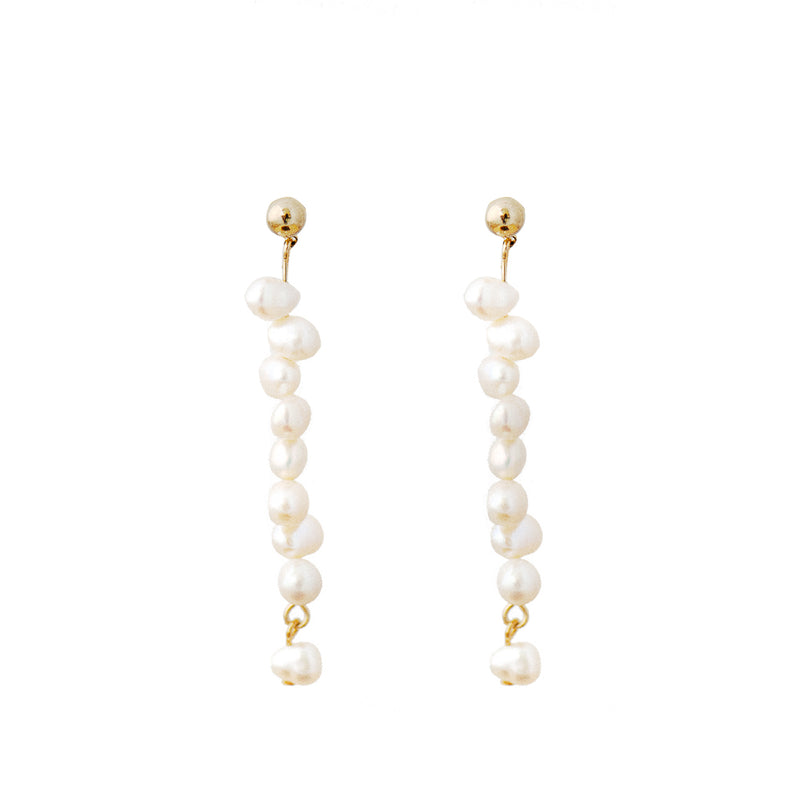 Fresh Water Pearl Hanging Strand Earrings