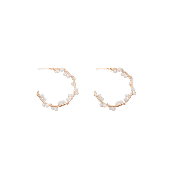 Hoops with Faux Pearls