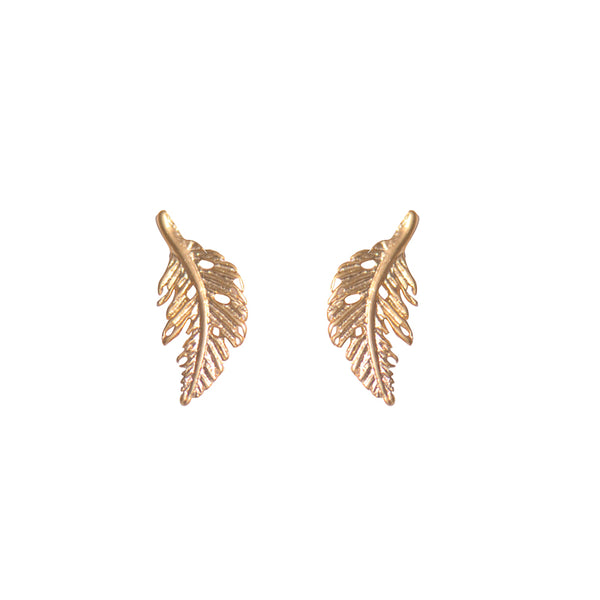 Palm Leaf Studs Earrings