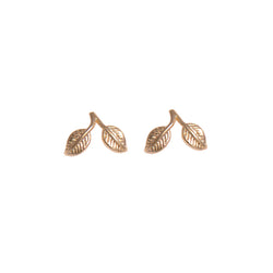 Vermeil Sterling Silver Double Leaf Earrings