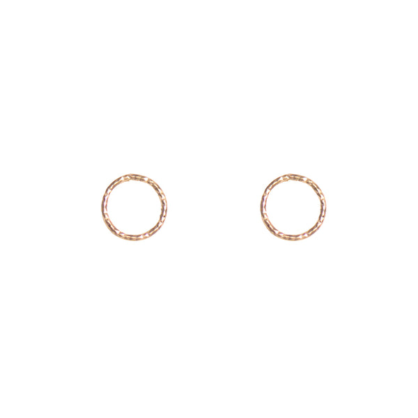 Vermeil Sterling Silver Circle Stud Earrings