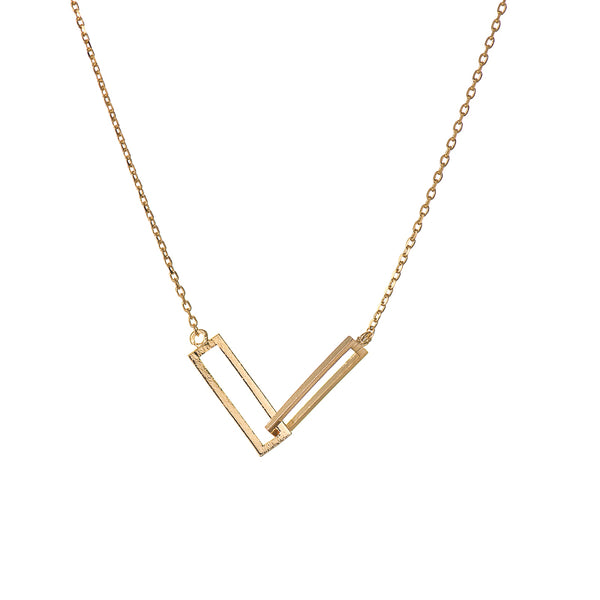 2 Rectangles Penant Necklace