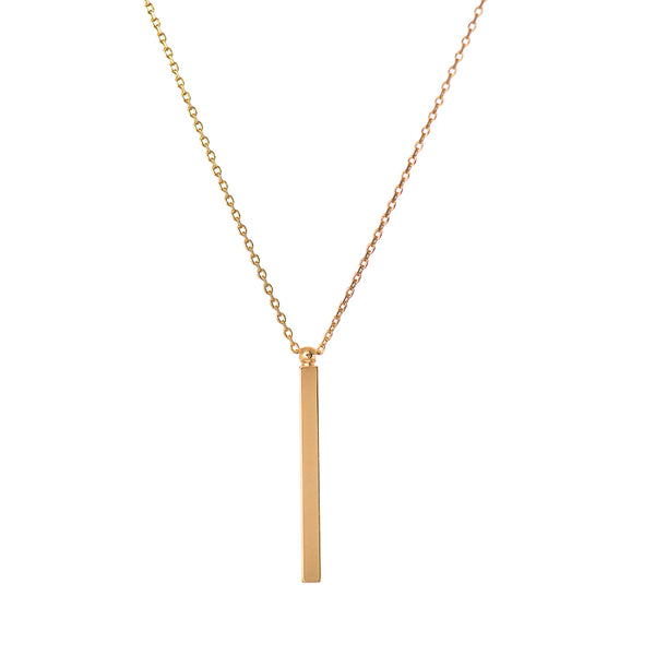 Hanging Bar Pendant Necklace