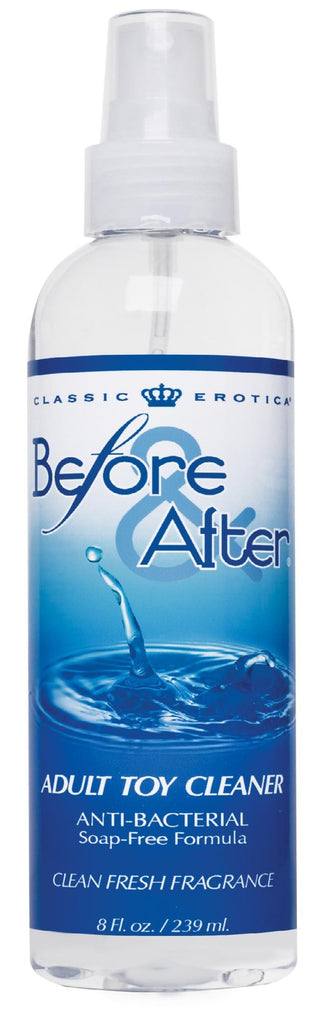 Before and After Anti-Bacterial Adult Toy Cleaner 8 Fl. Oz. - Erotic Superstore