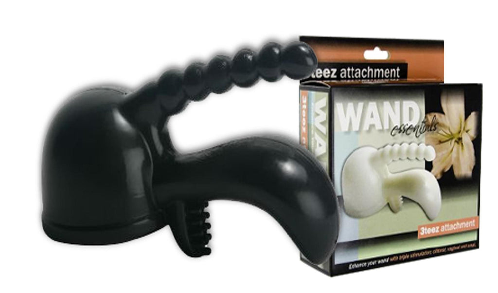 Wand Essentials 3Teez Attachment Boxed (Black) - Erotic Superstore