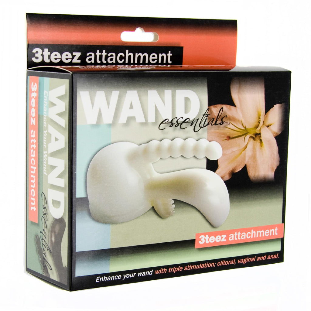 Wand Essentials 3Teez Attachment Boxed (White) - Erotic Superstore