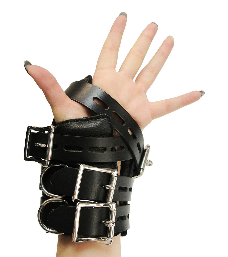 Strict Leather Four Buckle Suspension Cuffs - Erotic Superstore