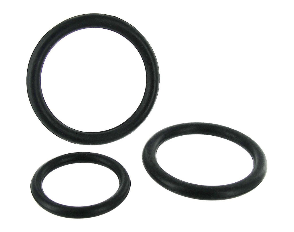 Black Triple Cock Ring Set - Erotic Superstore