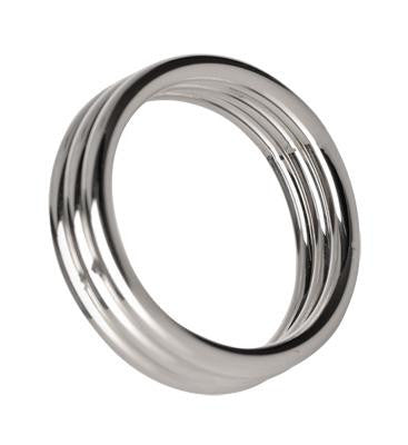 Echo 1.75 Inch Stainless Steel Triple Cock Ring - Erotic Superstore