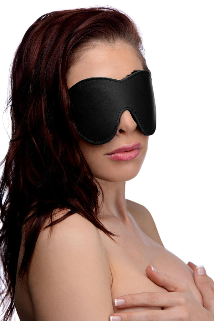 Black Fleece Lined Blindfold - Erotic Superstore