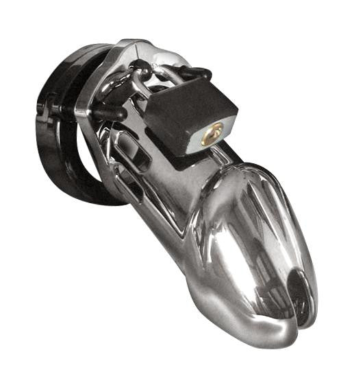CB-6000 Male Chastity Device Designer Series Option : Chrome-Chrome - Erotic Superstore