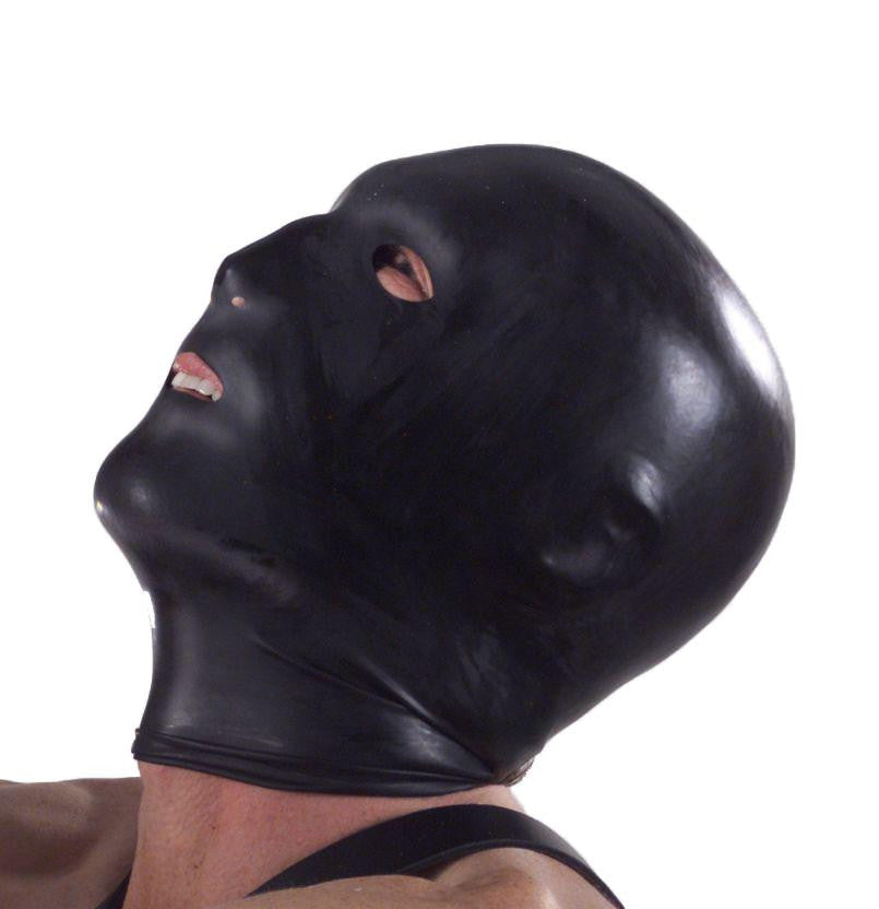 Black Hood with Eye, Mouth, and Nose Holes - Erotic Superstore