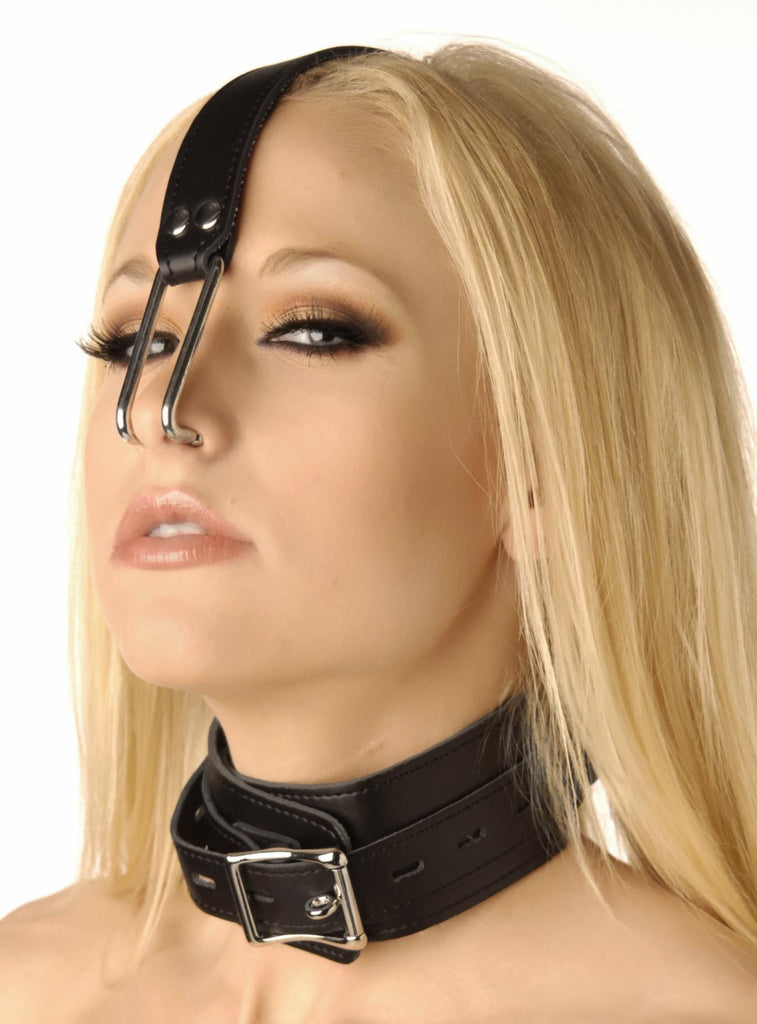 Collar with Nose Hook - Erotic Superstore