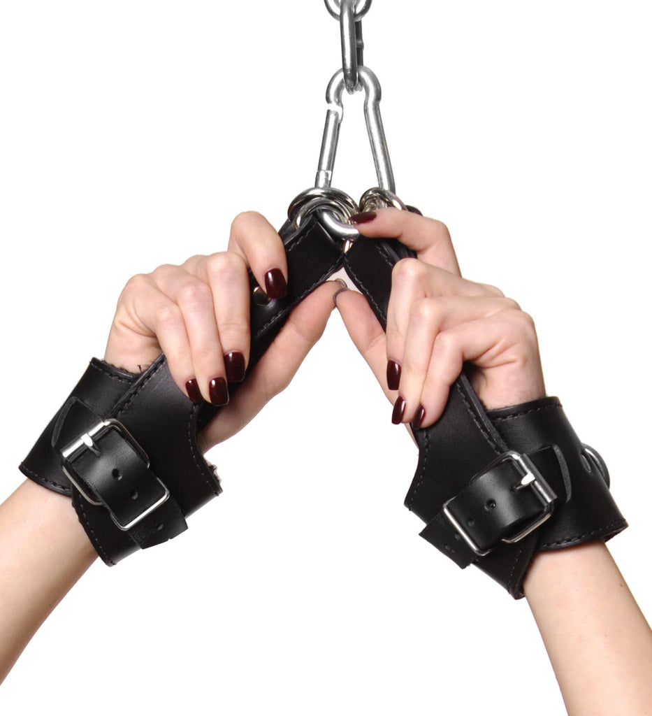 Strict Leather Fleece Lined Suspension Cuffs - Erotic Superstore