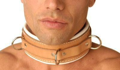 Strict Leather Padded Hospital Style Restraint Collar - Erotic Superstore