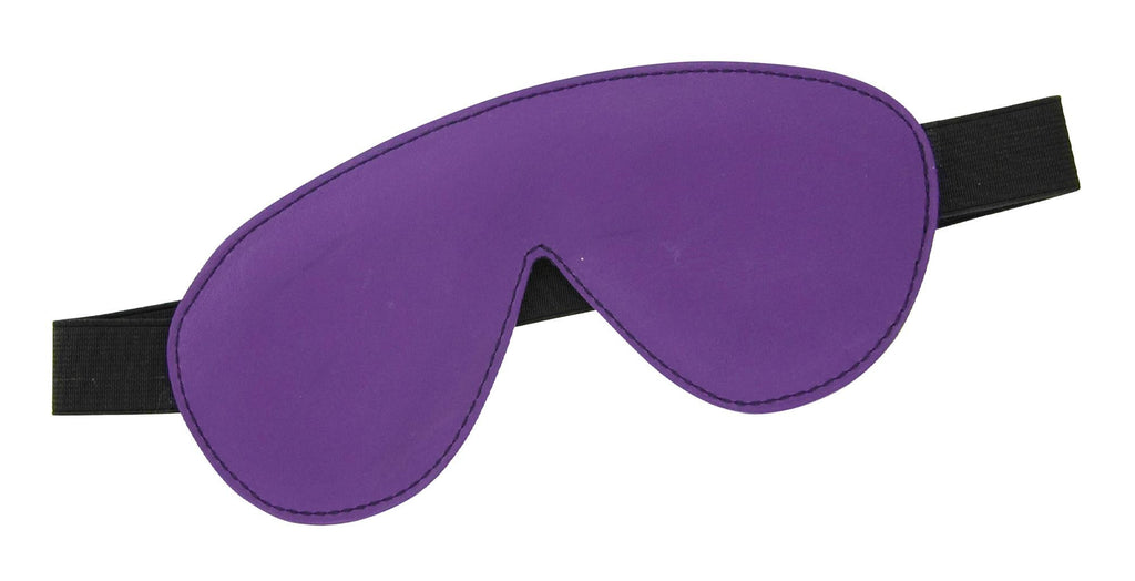 Blindfold Padded Leather - Purple and Black - Erotic Superstore