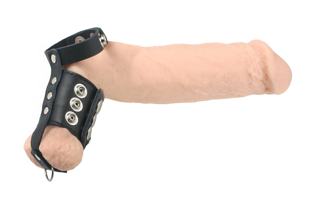 Strict Leather Cock Strap and Ball Stretcher Size : L-Large - Erotic Superstore