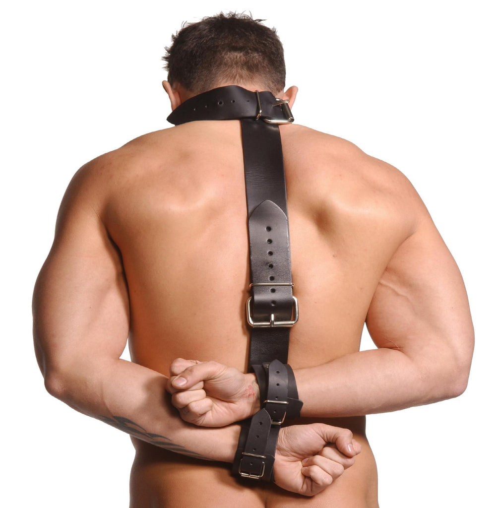 Strict Leather Neck-Wrist Restraint - Erotic Superstore
