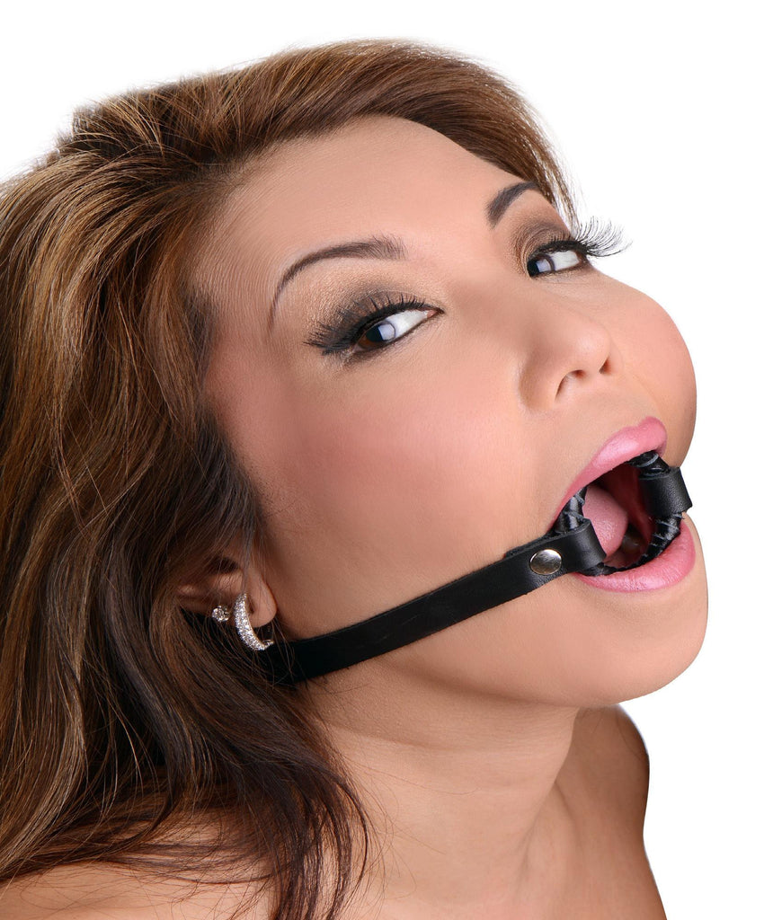 Strict Leather Ring Gag Size : XL-XL - Erotic Superstore