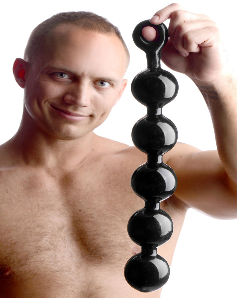 Black Baller Anal Beads - Erotic Superstore