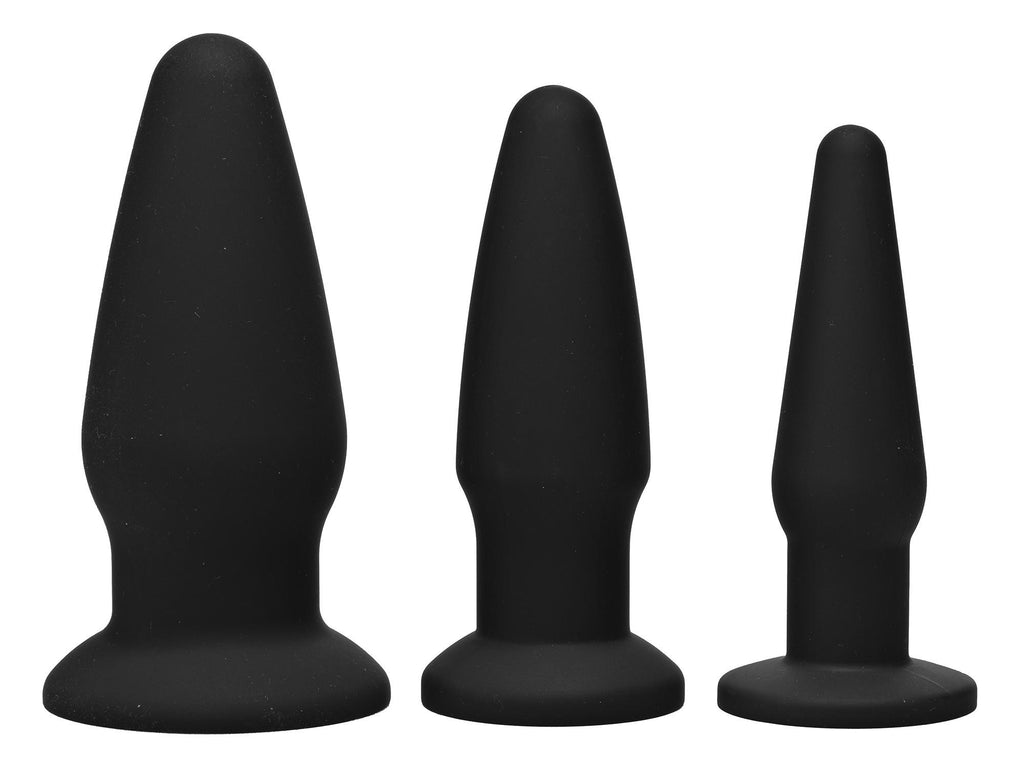 Trinity Silicone Butt Plug Kit - Erotic Superstore