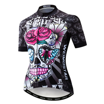 Actionjerseys Pure Aero Series GTR Pro Team Cycling Racing Girls Skull