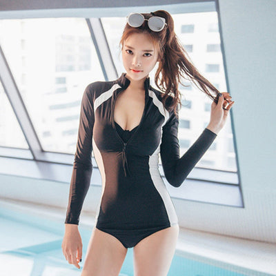 hentai manga long sleeve surfing one-piece swimsuit