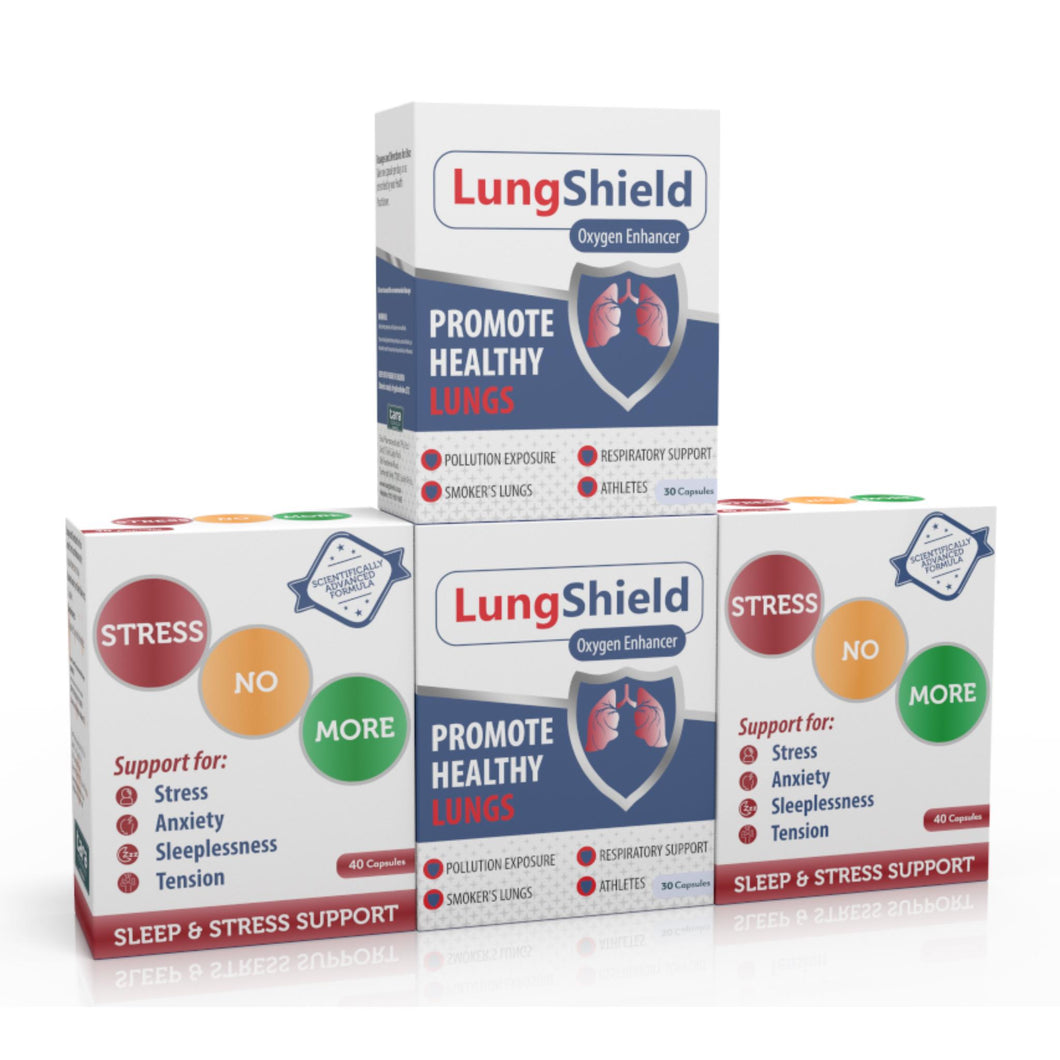 Lungshield & Stressnomore Combo (Two of each)