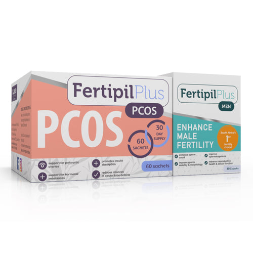 Fertipil Plus PCOS - Fertipil Plus for Men Combo (One of each) (Free delivery in SA, T&C apply)