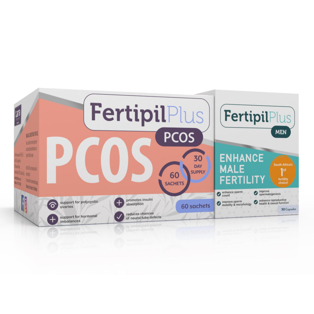 Fertipil Pcos & Fertipil for Men COMBO (One of each)