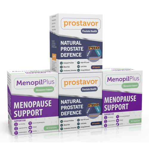 Menopil Plus & Prostavor Combo (Two of each) (Free delivery in SA, T&C apply)