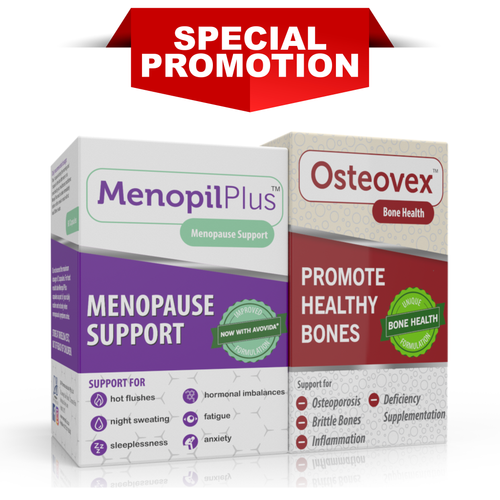 Menopil Plus & Osteovex Combo (One of each)