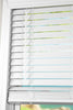 Cordless White 2 Inch Faux wood Blind, 72 84 inch length