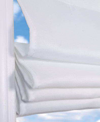 Cordless Fabric Roman Shades Light Filtering Cloud White,Width from 22