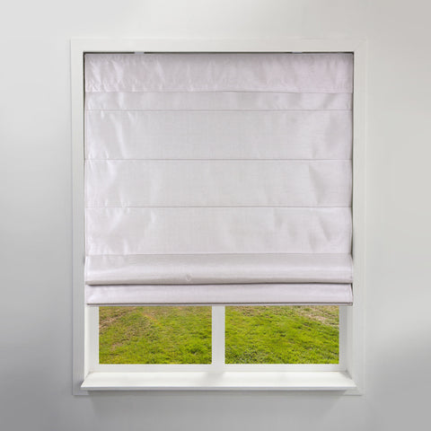 Cordless Fabric Roman Shades Light Filtering Faux Silk Sand,Width from 24
