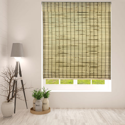 Rustique Bamboo Cordless Roman Shade, Width: 19