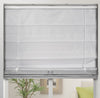 Cordless Fabric Roman Shades Blackout Light Grey,Width from 22
