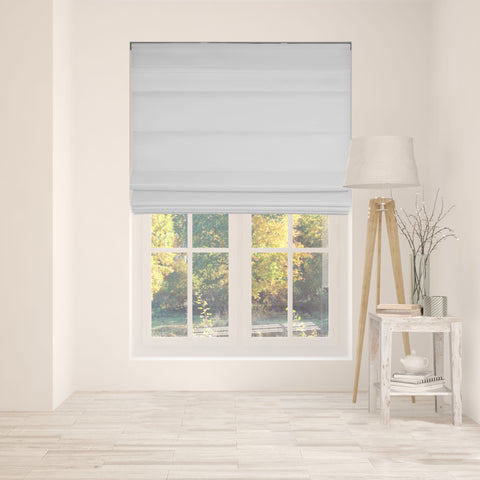 Cordless Fabric Roman Shades LF Gray,Width from 22