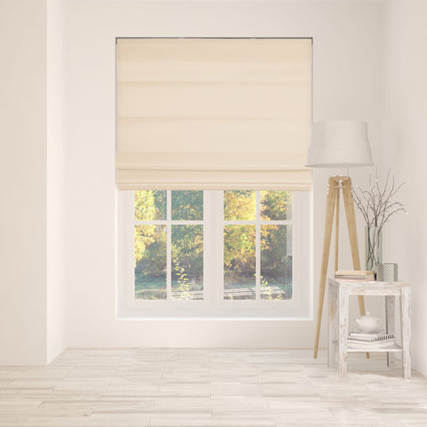 Cordless Fabric Roman Shades LF Pebble Beach,Width from 22