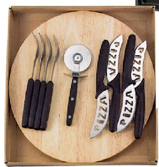 Pizza Cutting Set Board 10pc