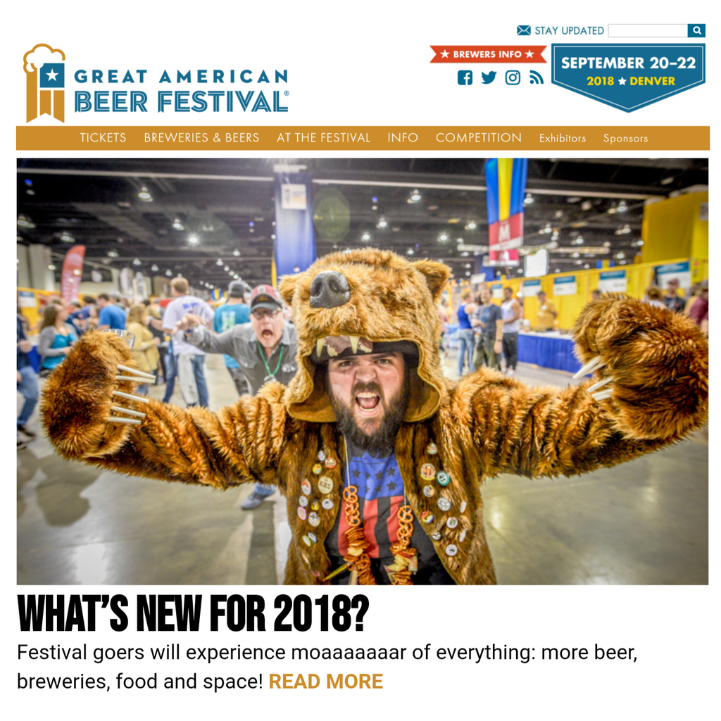 Great American Beer Festival homepage