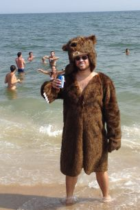 Griz Coat is ideal beachwear