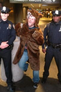 Griz Coat entertaining NYPD