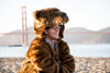 Faux Fur grizzly bear coat by Griz Coat