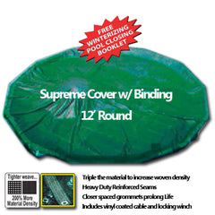 12' Extra Heavy Pool Cover with Binding