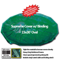 15x30' Extra Heavy Pool Cover with Binding