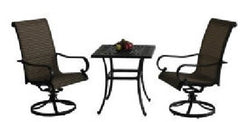 3 Piece Cast Aluminum Café Set
