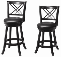 "29"" Black Swivel Stools"