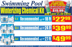 Copy of Winterizing Chemical Kits for up to 18' Round Pools