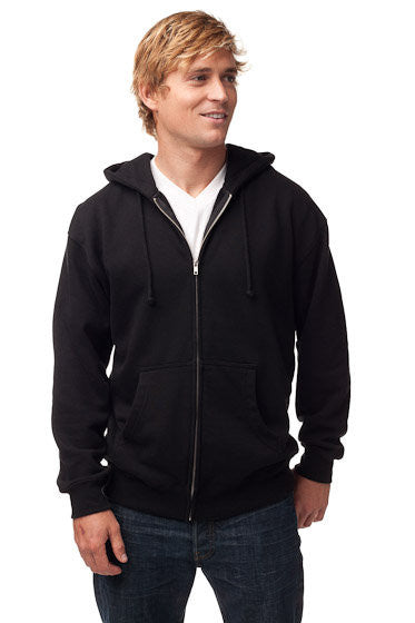 Mens Heavyweight Full Zip Hooded Sweatshirt